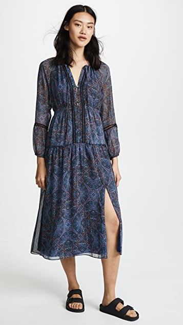 Ella Moss Monarch Handkerchief Dress - Navy