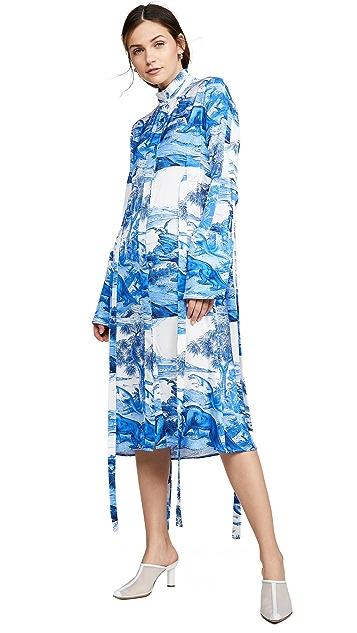 Ellery Zenith Fluid Button Up Dress