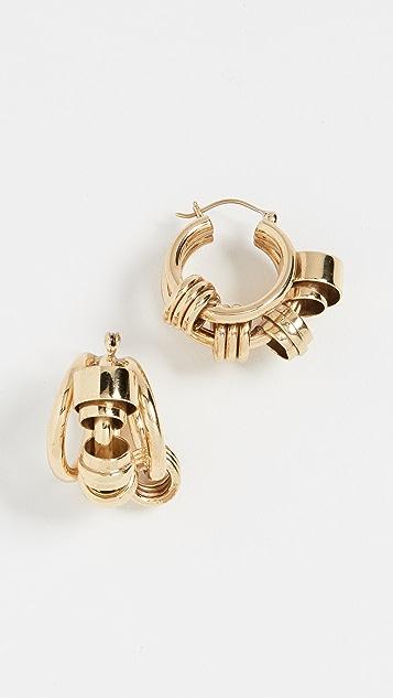 Ellery Bolvar Coiled Collage Earrings