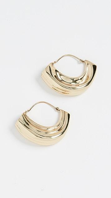 Ellery Текстурированные серьги-кольца Arturo