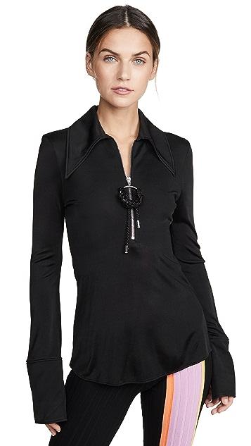 Ellery Блуза McShine с молнией спереди