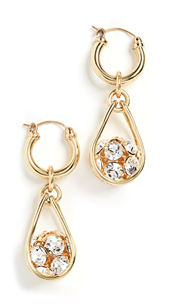 Ellery B Side Pave Ball Earrings