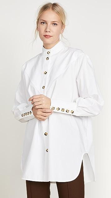 Ellery Рубашка Puzzo с V-образным вырезом со вставками