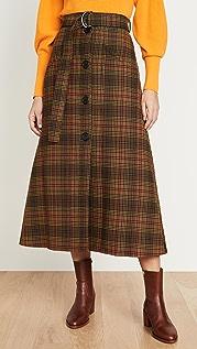 Ellery West Side Padded A-Line Skirt