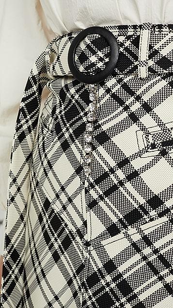 Ellery Matango Check Skirt