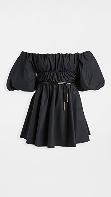 Ellery Freedom Off Shoulder Puffed Sleeve Dress