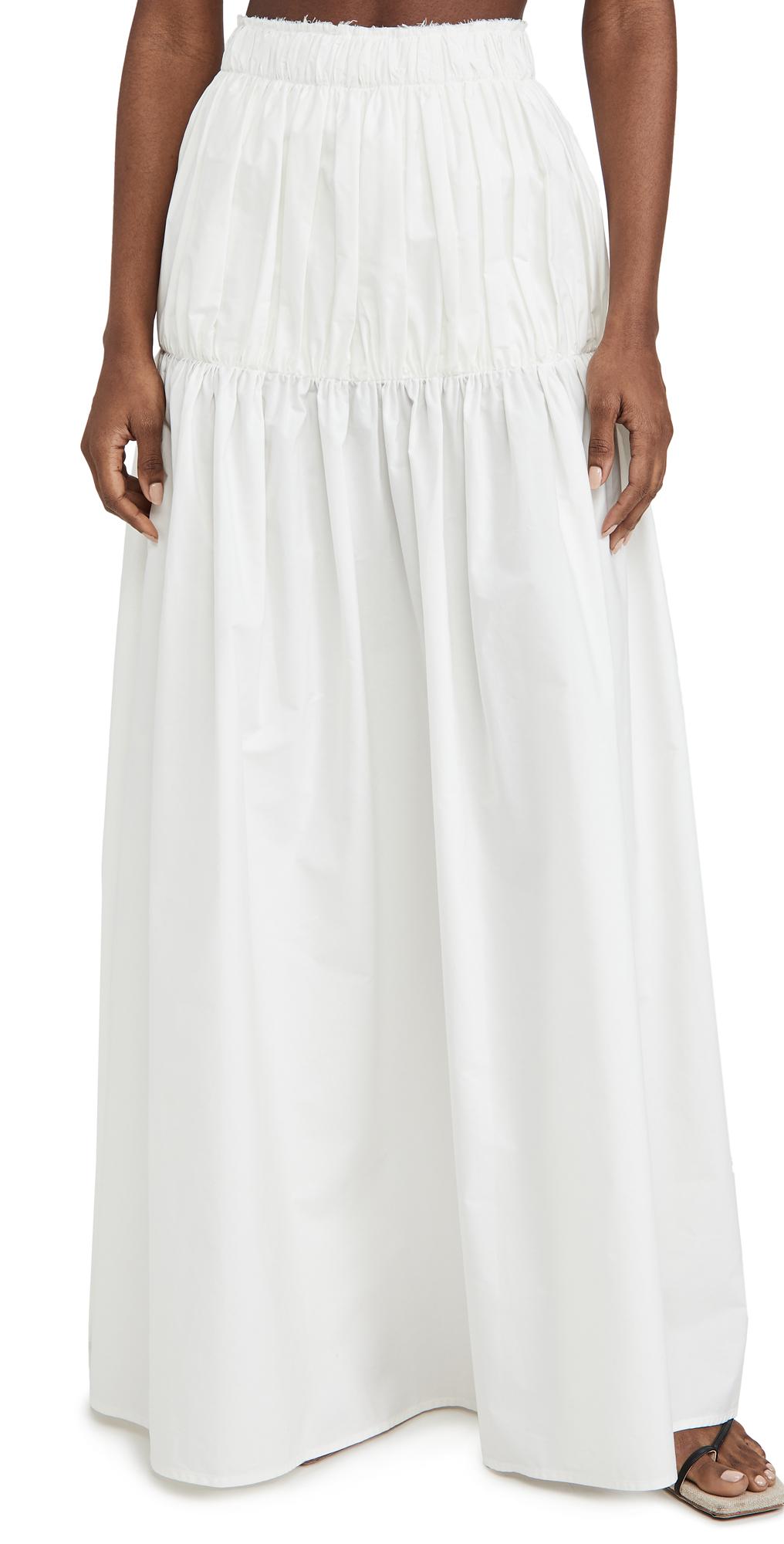 Ellery Sweep Me Up Skirt In White