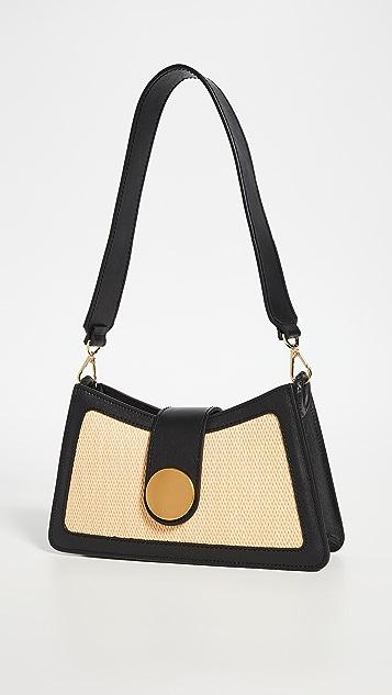 Elleme Raffia Contrast Baguette Bag