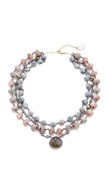 Ela Rae 3 Strand Luxe Multi Choker Necklace