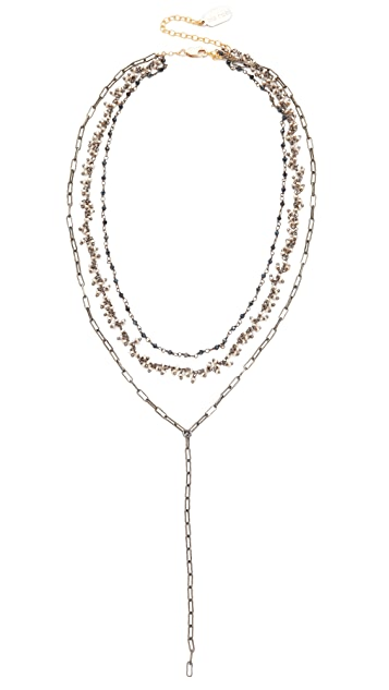 Ela Rae Three Layer Lariat Necklace