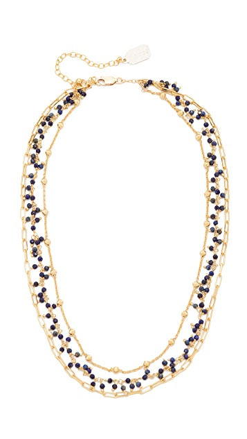 Ela Rae Three Layer Collar Lapis Necklace