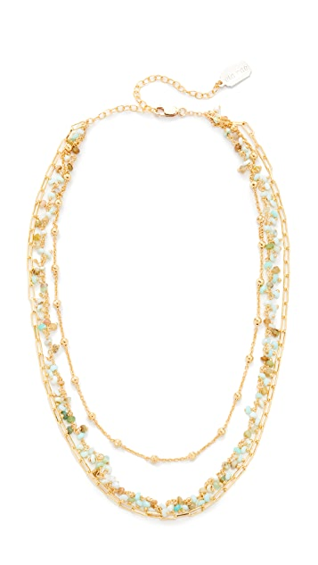 Ela Rae Three Layer Collar Peruvian Opal Necklace