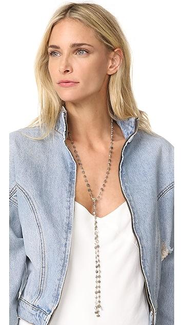 Ela Rae Labradorite Coin Lariat Necklace