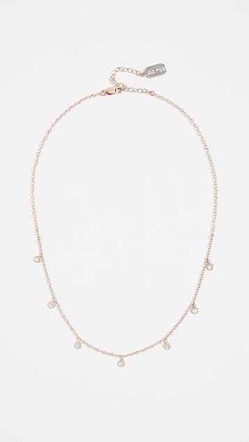 Ela Rae Rose Gold Vermeil Drop Necklace