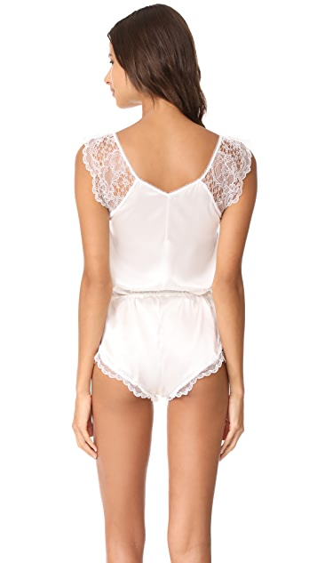 Else Lingerie Silk And Lace Romper