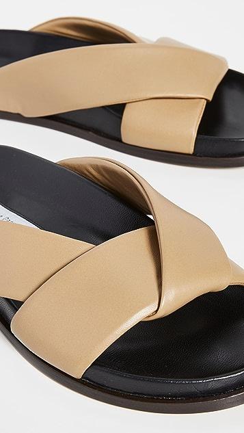 Emme Parsons Folded Slide Sandals