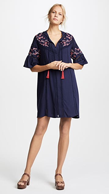 Ella Moon Embroidered Mini Dress