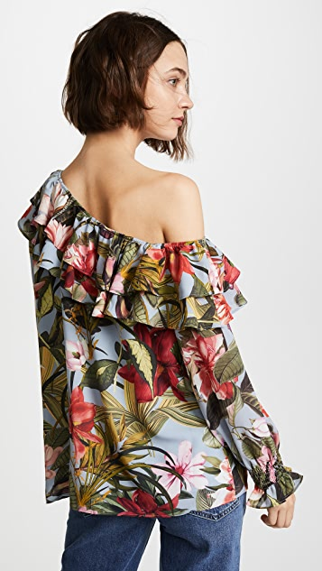 Ella Moon One Shoulder Ruffle Blouse