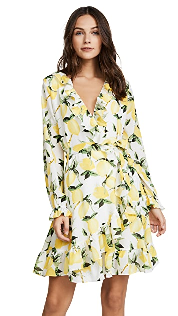 Ella Moon Wrap Ruffle Dress