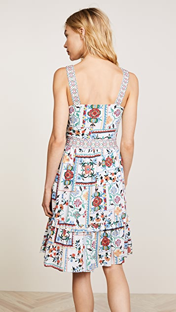 Ella Moon Apron Ruffle Midi Dress