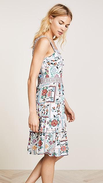 Ella Moon Apron Ruffle Midi Dress