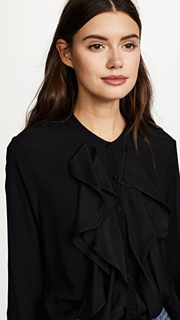 Ella Moon Ruffled Button Down Blouse
