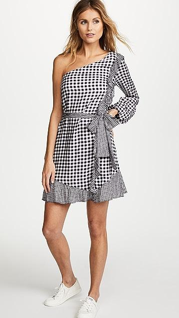 Ella Moon Gingham One Shoulder Dress