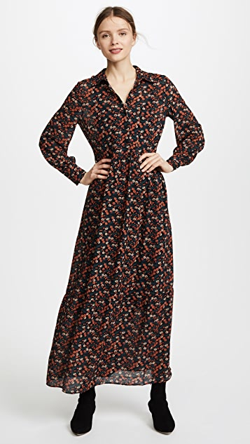 Ella Moon Floral Dress with Tie Neck