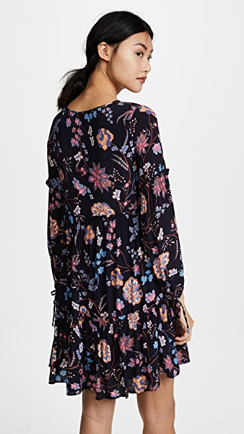 Ella Moon Floral Vine Dress