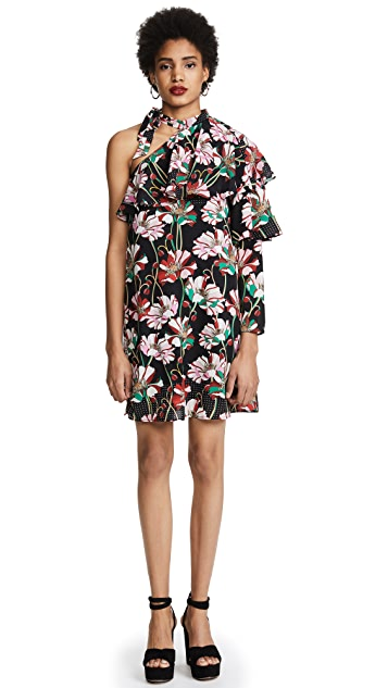 Ella Moon Floral Pleat Sleeve Dress