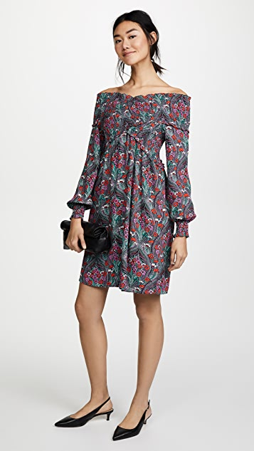 Ella Moon Floral Smocked Dress