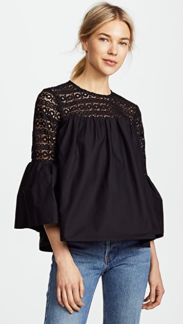 endless rose Boho Blouse - Black