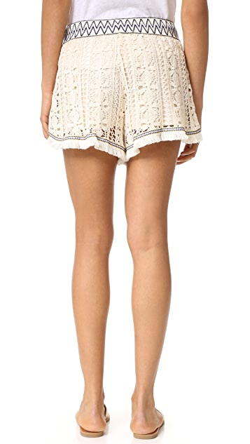 endless rose Crochet Shorts