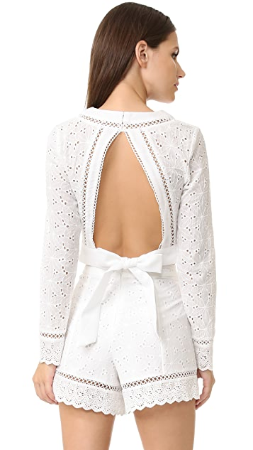 endless rose Eyelet Wrap Blouse