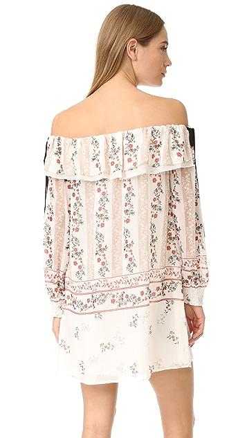 endless rose Printed Off Shoulder Dress