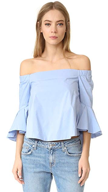 endless rose Ruffle Off Shoulder Top
