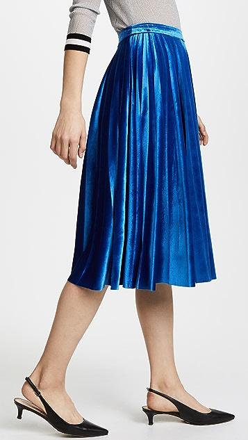 endless rose Pleated Velvet Skirt