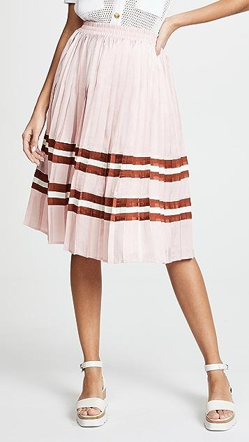 endless rose Pleated Midi Skirt