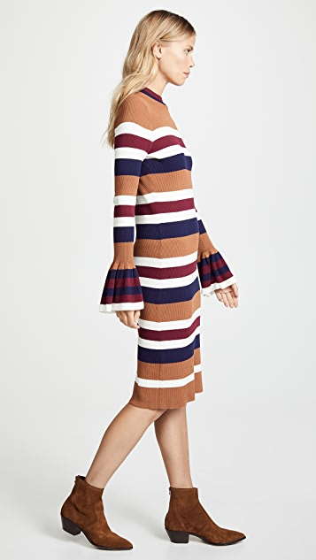 endless rose Striped Midi Dress