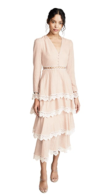 endless rose Tiered Maxi Dress