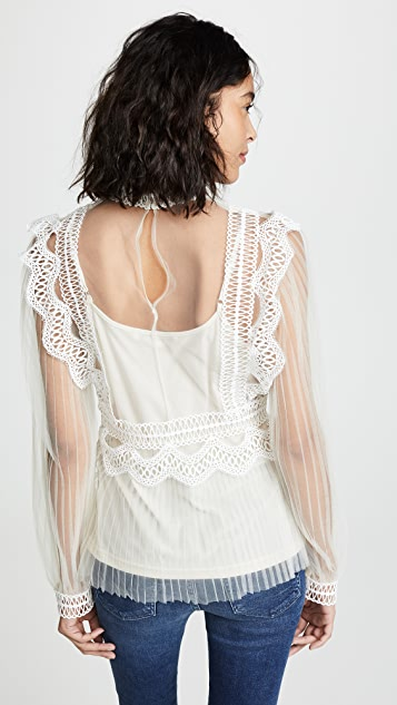 endless rose Lace and Mesh Top