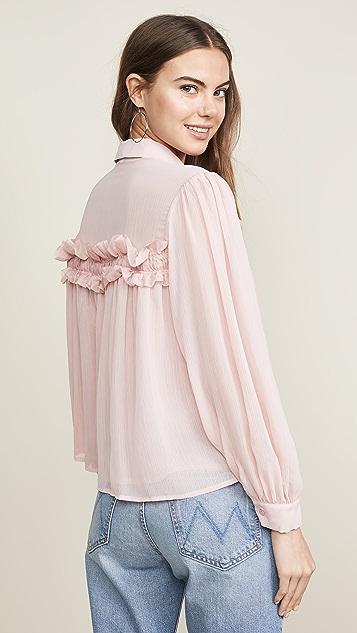 endless rose 雪纺系扣上衣