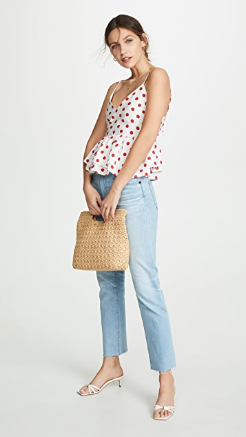 endless rose Red Polka Dot Top