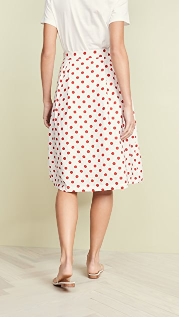 endless rose Red Polka Dot Skirt