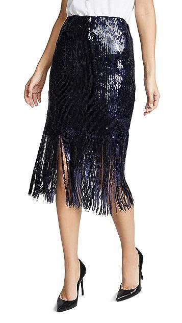 endless rose Sequin Fringe Skirt