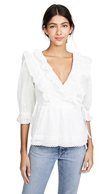 endless rose Frill Lace Wrap Blouse