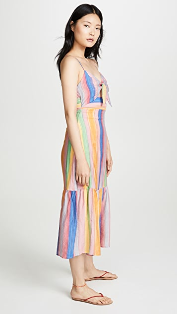 endless rose Front Tie Maxi Dress