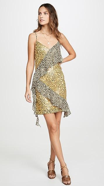 endless rose Платье Spangle с леопардовым принтом