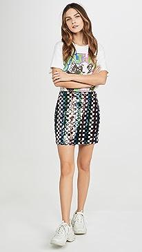Multi Sequin Mini Skirt