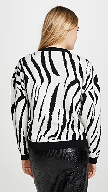endless rose Zebra Pattern Sweater